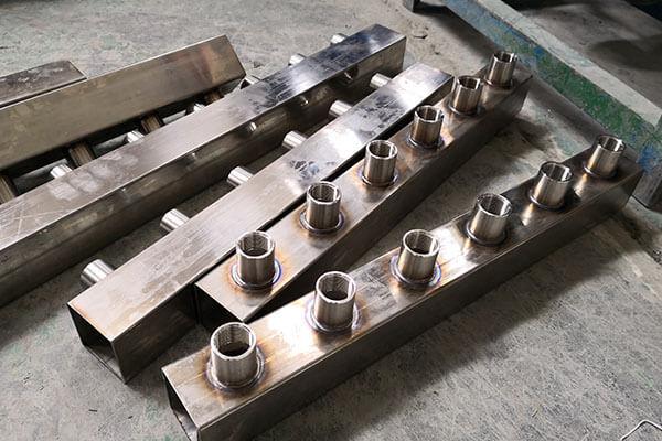 不锈钢水嘴接头在分水器上的焊接效果